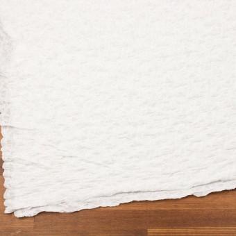 コットン&ナイロン混×無地(オフホワイト)×シャーリングメッシュニット_全4色 サムネイル2