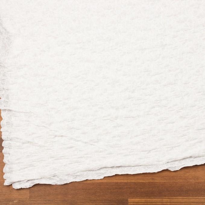 コットン&ナイロン混×無地(オフホワイト)×シャーリングメッシュニット_全4色 イメージ2