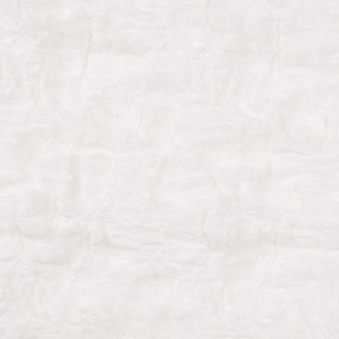 コットン&ナイロン混×無地(オフホワイト)×シャーリングメッシュニット_全4色 イメージ1