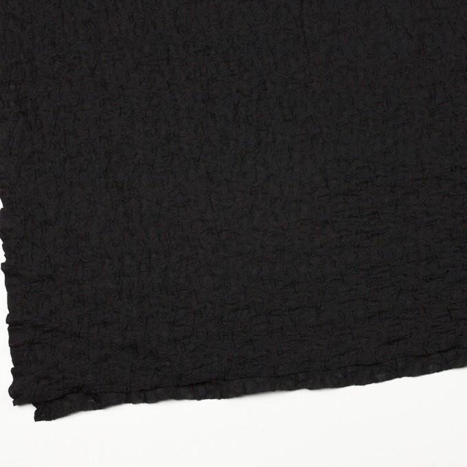 コットン&ナイロン混×無地(ブラック)×シャーリングメッシュニット_全4色 イメージ2