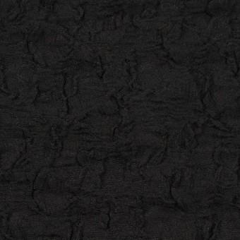 コットン&ナイロン混×無地(ブラック)×シャーリングメッシュニット_全4色 サムネイル1