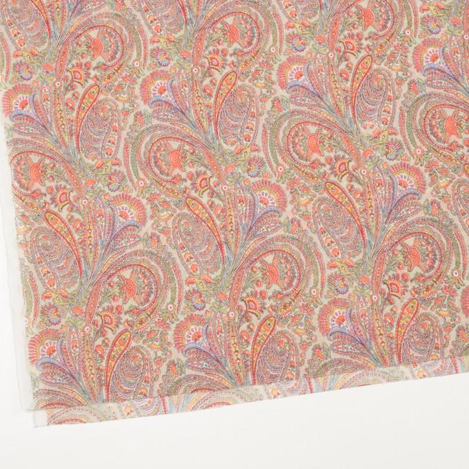 コットン×ペイズリー(クリーム)×ボイル_全2色 イメージ2