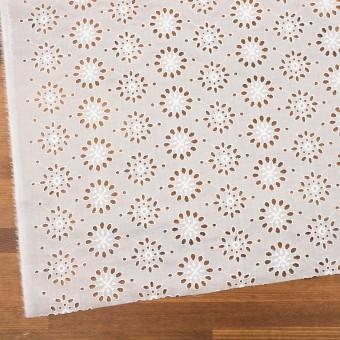 コットン×フラワー(ホワイト)×ボイル刺繍_全2色 サムネイル2