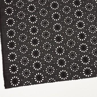 コットン×フラワー(ブラック)×ボイル刺繍_全2色 サムネイル2