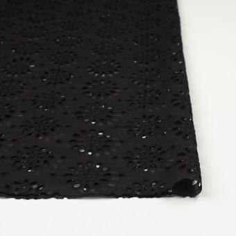 コットン×フラワー(ブラック)×ボイル刺繍_全2色 サムネイル3