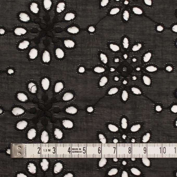 コットン×フラワー(ブラック)×ボイル刺繍_全2色 イメージ4