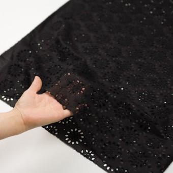 コットン×フラワー(ブラック)×ボイル刺繍_全2色 サムネイル5