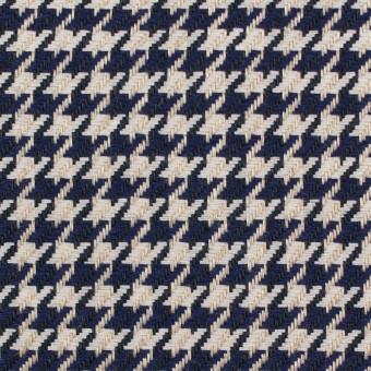 リネン×チェック(キナリ&ネイビー)×千鳥格子 サムネイル1