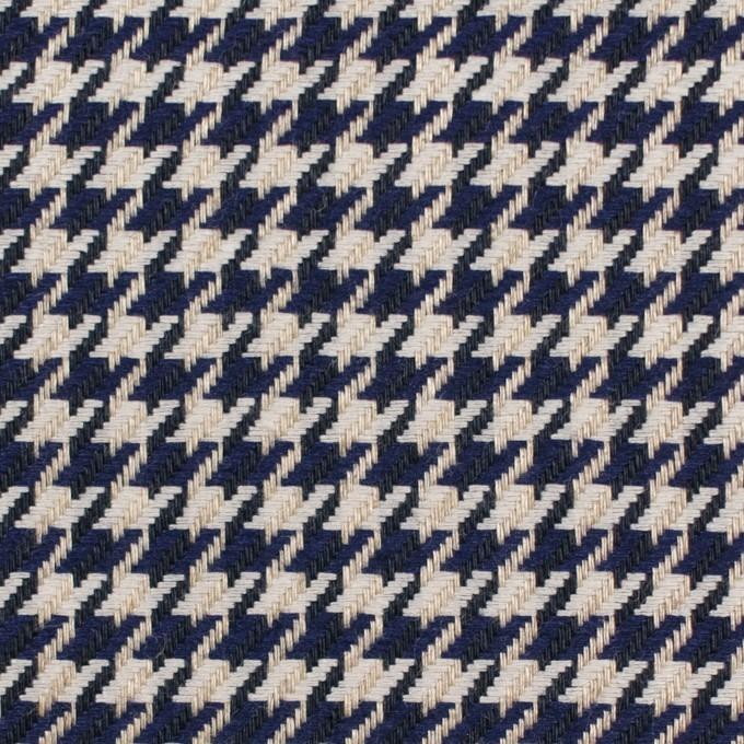 リネン×チェック(キナリ&ネイビー)×千鳥格子 イメージ1
