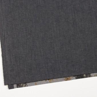 コットン&ポリエステル混×無地&フラワー(グレー)×デニムストレッチ_バックプリント_全4色 サムネイル2