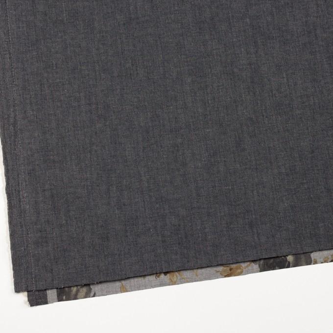コットン&ポリエステル混×無地&フラワー(グレー)×デニムストレッチ_バックプリント_全4色 イメージ2