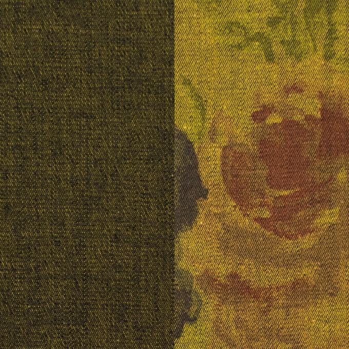 コットン&ポリエステル混×無地&フラワー(ターメリック)×デニムストレッチ_バックプリント_全4色 イメージ1