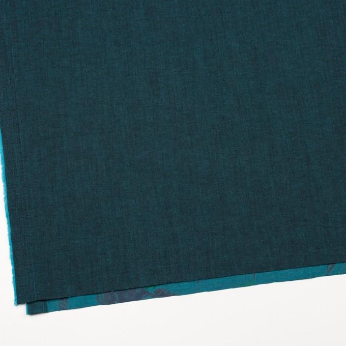コットン&ポリエステル混×無地&フラワー(ターコイズ)×デニムストレッチ_バックプリント_全4色 イメージ2