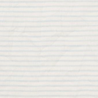 コットン×ボーダー(サックス)×ボイルワッシャー_全2色 サムネイル1