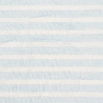 コットン×ボーダー(サックス)×ボイルワッシャー サムネイル1