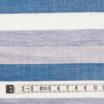 コットン×ボーダー(ブルーミックス)×Wガーゼ サムネイル4