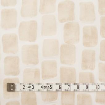 コットン×幾何学模様(ベージュ)×ボイル_塩縮加工 サムネイル4