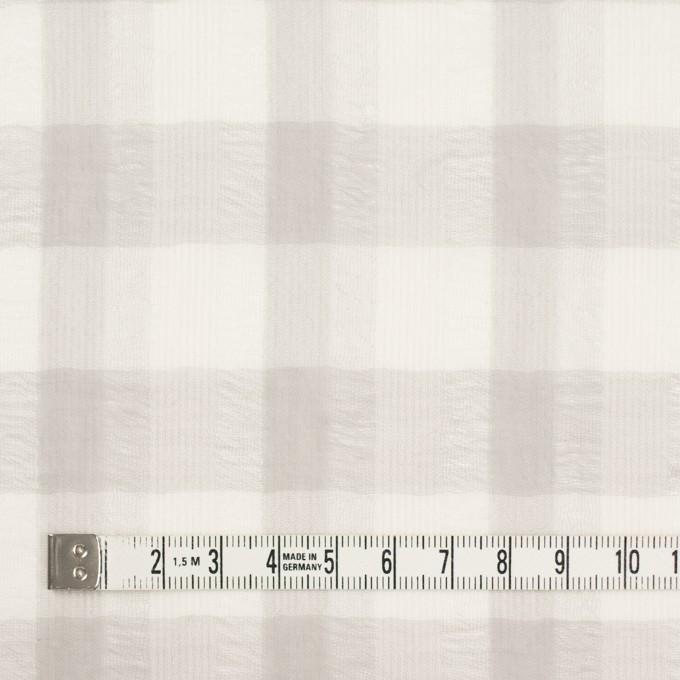 ポリエステル&コットン×チェック(アイボリー&ライトグレー)×空羽ボイル_全3色 イメージ3