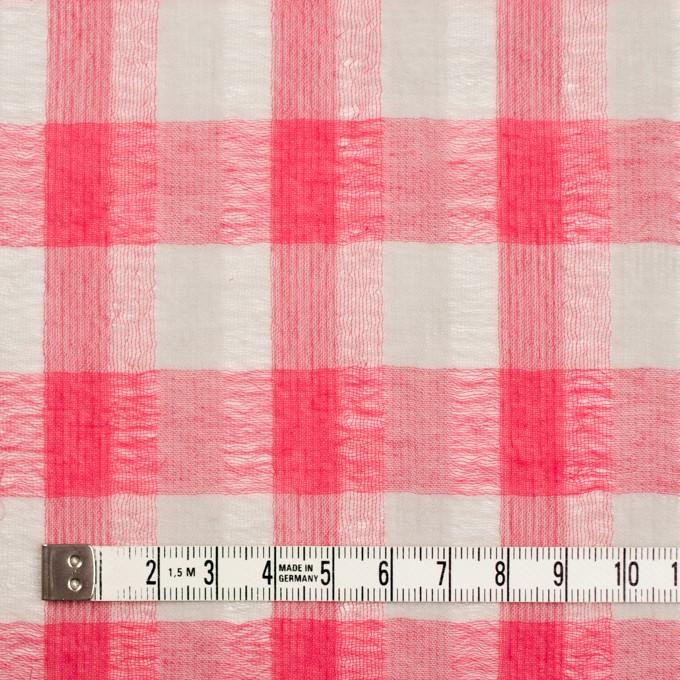 ポリエステル&コットン×チェック(チェリーピンク&ライトグレー)×空羽ボイル_全3色 イメージ3