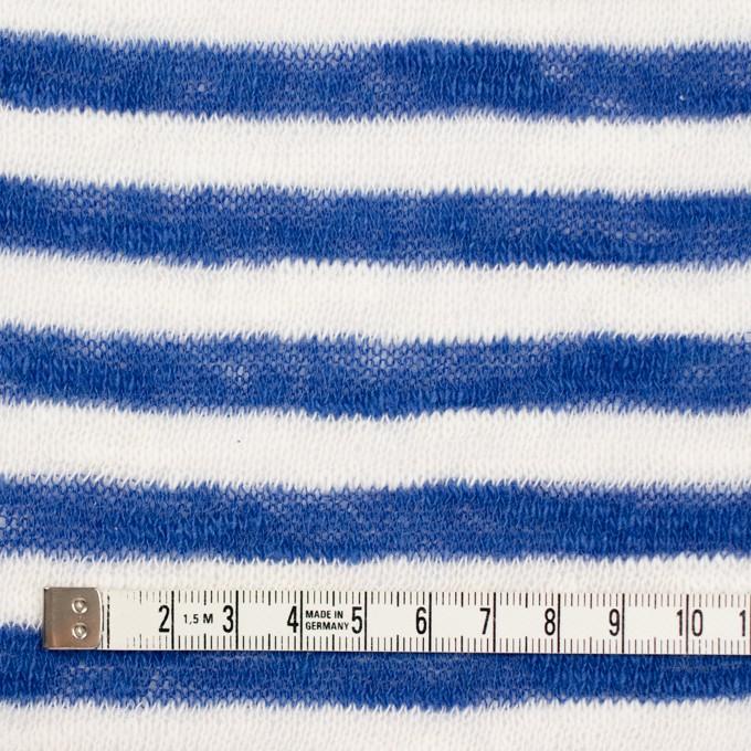コットン×ボーダー(ブルー)×天竺ニット イメージ4