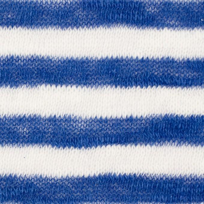 コットン×ボーダー(ブルー)×天竺ニット イメージ1