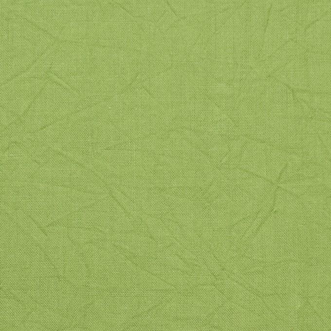 コットン×無地(ライム)×キャンブリックワッシャー_全15色 イメージ1