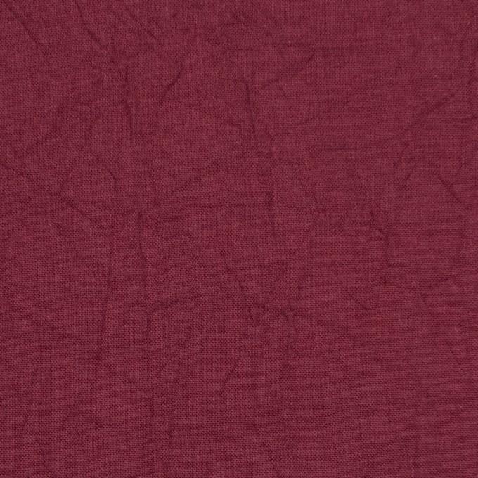 コットン×無地(ガーネット)×キャンブリックワッシャー_全15色 イメージ1