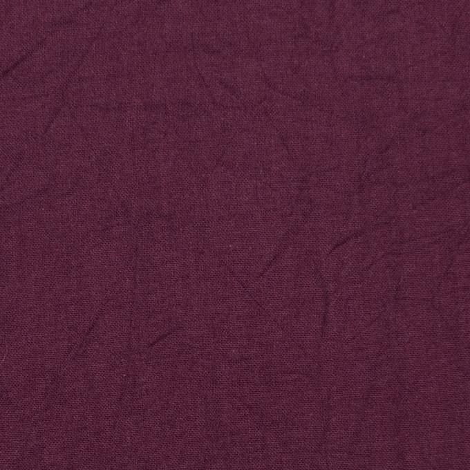 コットン×無地(プラムパープル)×キャンブリックワッシャー_全15色 イメージ1