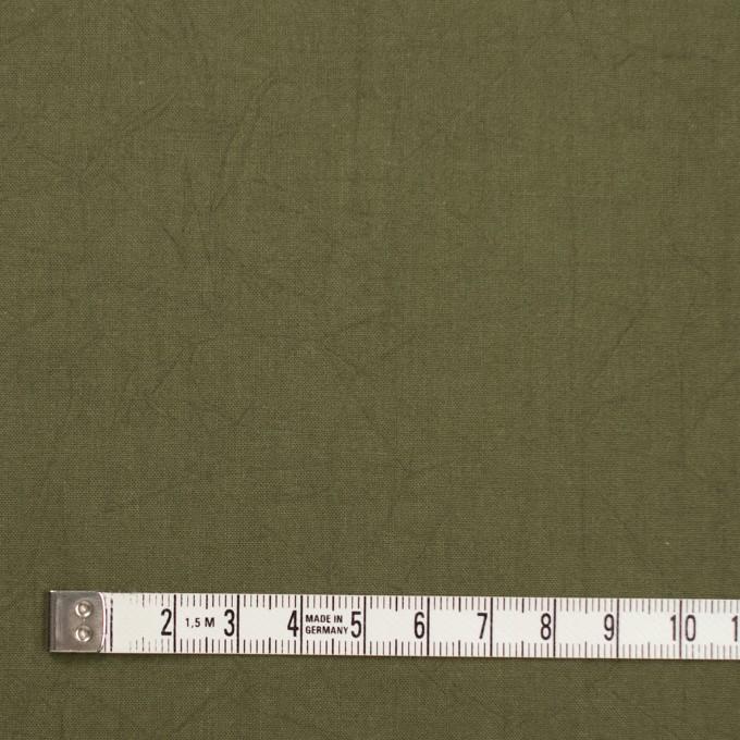コットン×無地(カーキグリーン)×キャンブリックワッシャー_全15色 イメージ4