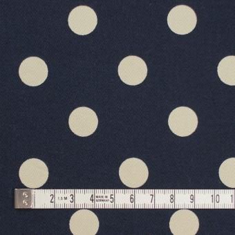 コットン&ポリウレタン×水玉(ダークネイビー&アイボリー)×チノクロス・ストレッチ サムネイル4