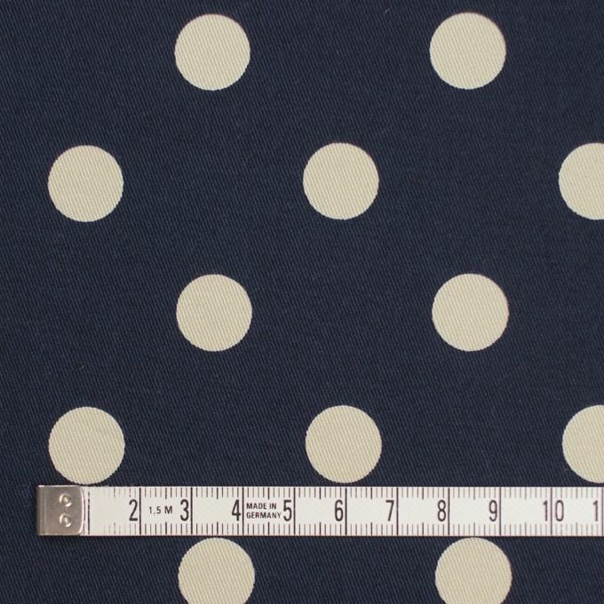 コットン&ポリウレタン×水玉(ダークネイビー&アイボリー)×チノクロス・ストレッチ イメージ4