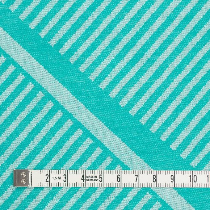 コットン×幾何学模様(エメラルドグリーン)×ジャガード_全2色 イメージ4