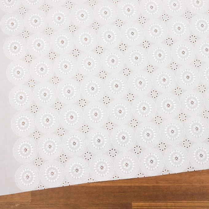 コットン×フラワー(ホワイト)×ローン刺繍_全6色 イメージ2