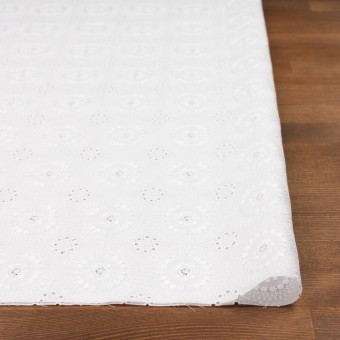 コットン×フラワー(ホワイト)×ローン刺繍_全6色 サムネイル3