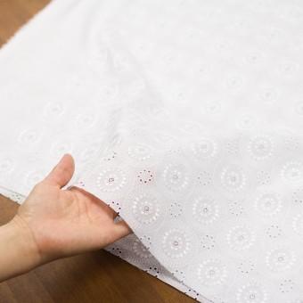 コットン×フラワー(ホワイト)×ローン刺繍_全6色 サムネイル5