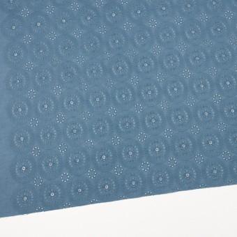 コットン×フラワー(スモークブルー)×ローン刺繍_全6色 サムネイル2