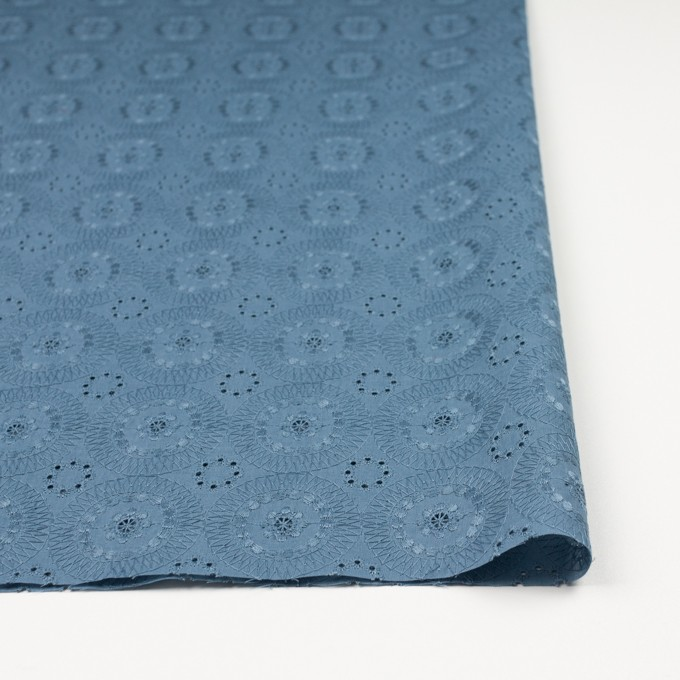 コットン×フラワー(スモークブルー)×ローン刺繍_全6色 イメージ3