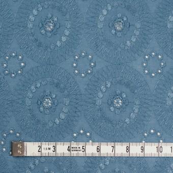 コットン×フラワー(スモークブルー)×ローン刺繍_全6色 サムネイル4