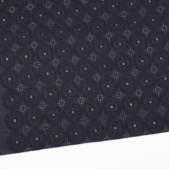 コットン×フラワー(ダークネイビー)×ローン刺繍_全6色 イメージ2
