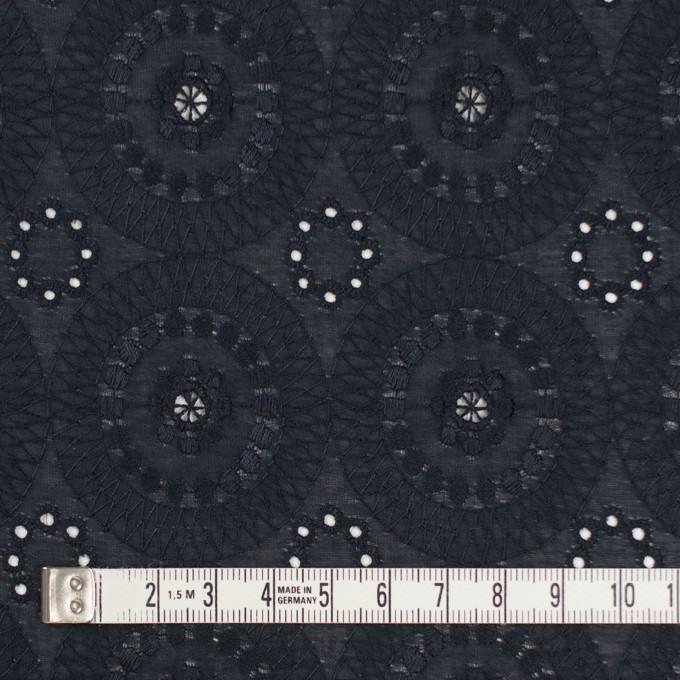 コットン×フラワー(ダークネイビー)×ローン刺繍_全6色 イメージ4