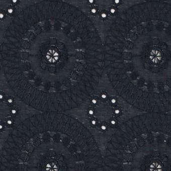 コットン×フラワー(ダークネイビー)×ローン刺繍_全6色 サムネイル1