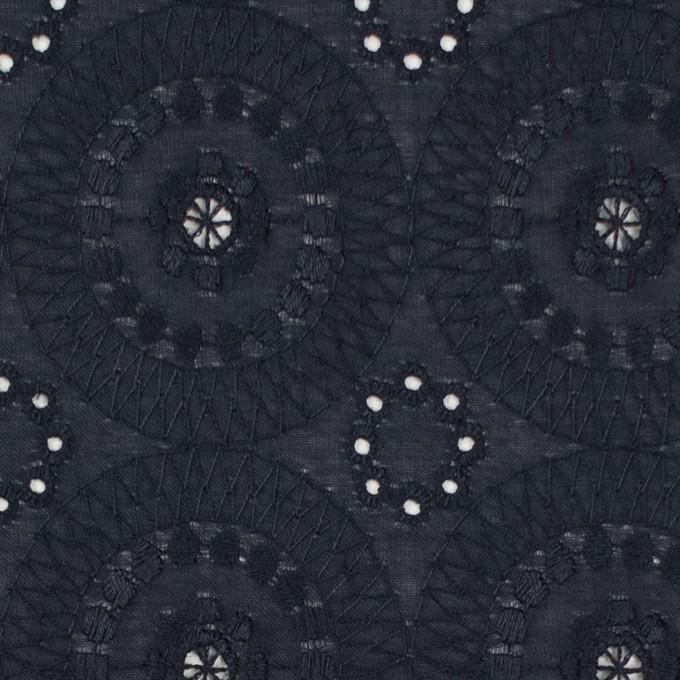 コットン×フラワー(ダークネイビー)×ローン刺繍_全6色 イメージ1