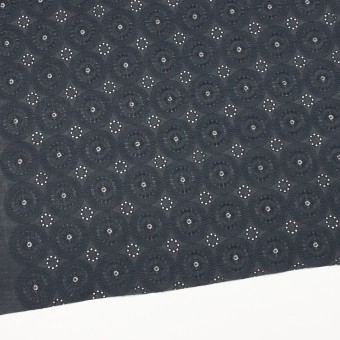 コットン×フラワー(チャコール)×ローン刺繍_全6色 サムネイル2