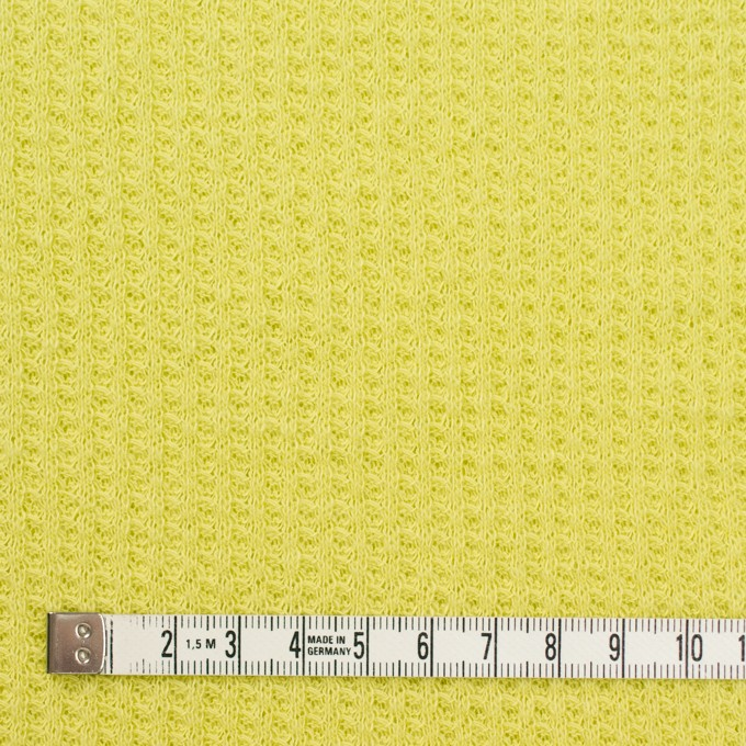コットン×無地(ライムグリーン)×ワッフルニット_全3色 イメージ4