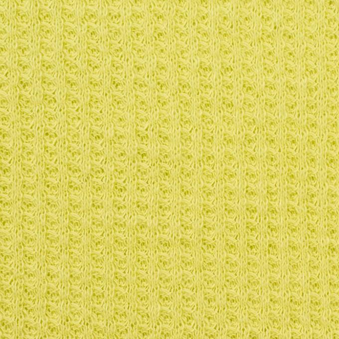コットン×無地(ライムグリーン)×ワッフルニット_全3色 イメージ1