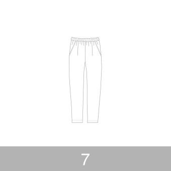 オリジナルパターン#014_ルーズフィットパンツ_7号 サムネイル1