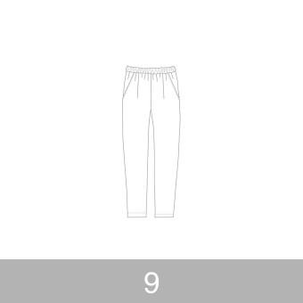 オリジナルパターン#014_ルーズフィットパンツ_9号 サムネイル1