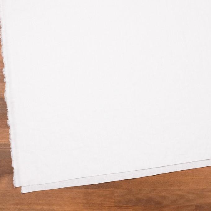 リネン&コットン×無地(ホワイト)×シーチング_全36色 イメージ2