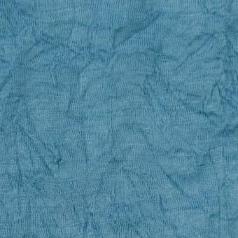 ウール×無地(チョークブルー)×天竺ニットワッシャー_全4色