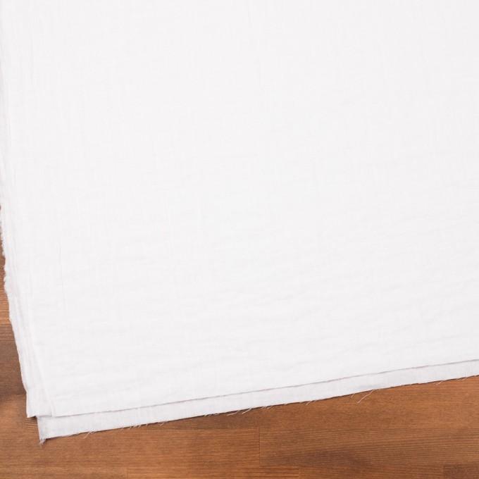 コットン×無地(ホワイト)×Wガーゼワッシャー_全20色 イメージ2
